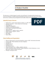Network Assessment Analysis Checklist