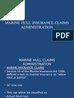 Marine Hull Insurance Claims Administration