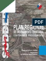 Plan Regional de Ordenamiento Territorial Contenido y Procedimiento SUBDERE