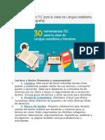 30 Herramientas TIC Para Tu Clase de Lengua Castellana y Literatura