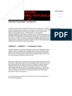 HISTORY of Abnormal Psychology
