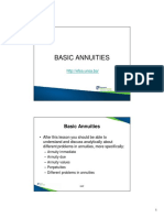 Topic 3 - Basic Annuities
