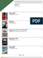 160gb Movie List