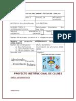 Proyecto Intitucional de Clubes