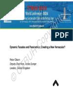 confrance Oborn_DynamicFacades and Parametrics; creating a new vernacular?