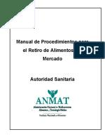 15-Manual de procedimientos de retiro de Alimentos.pdf