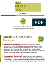 Kuliah 1 Analisis Geoteknik Terapan
