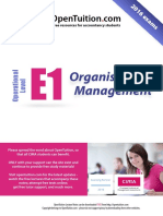 Cima e1 Notes organisational management