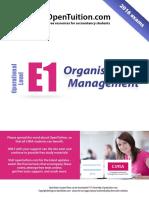 Cima e1 Notes organisational management