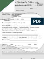 Curso Atualizacao Politica PPS-FAP 2010 - Ficha de inscrição