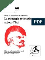 Strategie Revolutionaire Aujourd'Hui LCR