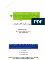 BPI - Activity Based Costing Technique Paper