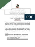 Mestrado Geologia UFMT-Edital