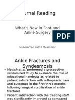 Whats New in Ankle & Foot