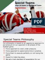 Corey Bielema Special Teams Clinic