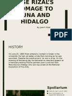 Jose Rizal's Homage to Luna and Hidalgo