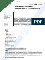 ABNT NBR 14763 - Equipamentos de Ordenha - Dimensionamento e Funcionamento