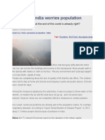 Oxic Fog in India Worries Population