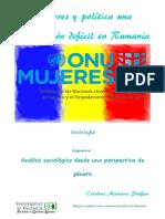 Mujeres y Política Una Combinación Difícil en Rumanía