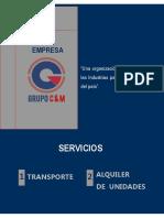 Brochure Transporte Grupo Cym