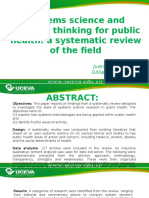 Articulo Pensamiento Sistemico en La Salud Publica
