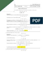 Corrección Primer Parcial Cálculo III, 15 de noviembre de 2016.