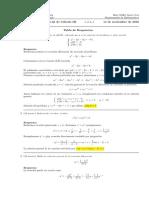 Corrección Primer Parcial Cálculo III, 14 de noviembre de 2016.