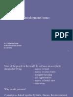 Global Econ - Development Economics - lecture