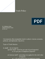 Global Econ - Trade Policy - lecture