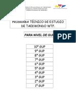 Materia Examenes GUP Taekwondo WTF