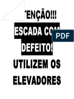 ATENÇÃO - escada