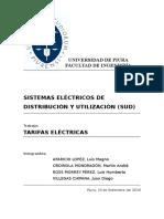 Tarifas electricas - informe