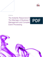 The Instantly Responsive Enterprise - The Marriage of BPM and Complex Event Processing