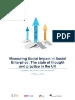Measuring Social Impact in Social Enterprise Report