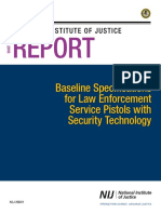 Baseline Specifications for Law Enforcement Service Pistols with Security Technology