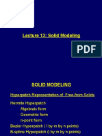 Lecture 13 Solid Modelling