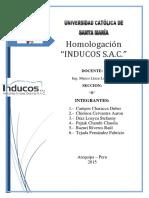 Homologación Inducos S.a.C (1)