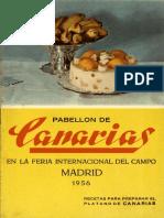 recetas para preparar el plátano de Canarias 1956