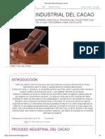 Proceso Industrial Del Cacao