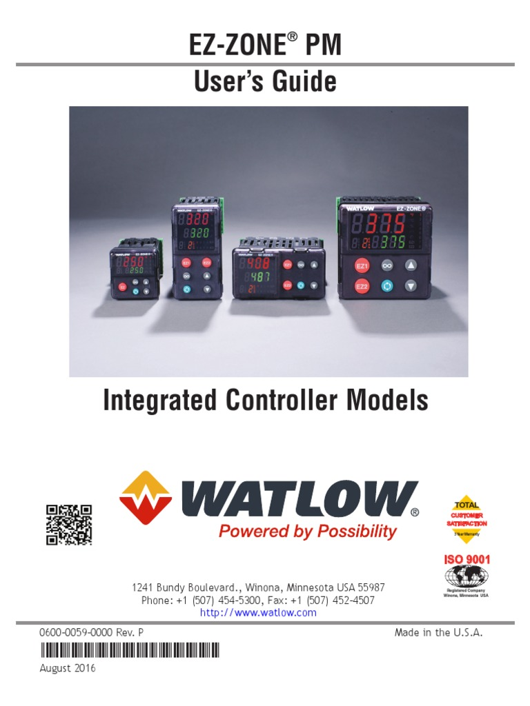 WATLOW pmpmintegrated | Control Theory | Electrical Engineering on