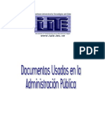 Documentos Mas Usados en La Admin is Trac Ion