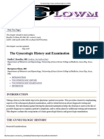 Gynecologic History Taking and Examination
