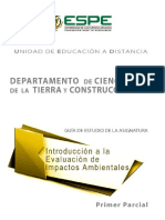 Introduccion a La Evaluacion de Impactos Ambientales