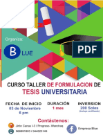 Afiche Curso Tesis Noviembre