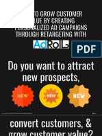 How to Grow Customer Value by Creating Personalized AD Campaigns Through Retargeting With AdRoll - Kev Chavez - Your Keen & Crisp VP