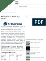 Aeroméxico, historia y datos