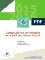 Jurisprudence Sante Travail 2015 2016