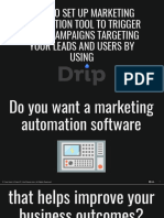How to Set Up Marketing Automation Tool to Trigger Email Campaigns Targeting Your Leads and Users by Using Drip - Kev Chavez - Your Keen & Crisp VP