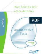 Practice Activities Quantitative Level 12