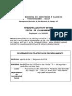 Edital Credenciamento 01-2016